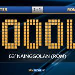 La @OfficialASRoma trova il pari con un destro potente di #Nainggolan #InterRoma 1-1 #SkySerieA http://t.co/qbTdf8UnkW
