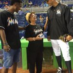 Thank you @marlins for letting ya boy throw a #whiff and @srSHREK for catching! We turning up tonight ???????????? http://t.co/YrJ2kJajNH