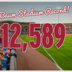 HOGS WIN + set a NEW attendance record. #WPS ⚾️ http://t.co/WdUIEol6YC