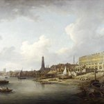 Behold the #London riverfront from Westminster to the Adelphi as it appeared c.1771 before the taming of the Thames. http://t.co/pJitGBH0wF