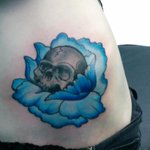 Hip #tattoo done by @BrassAnchor902! Greg, you are brilliant! #beautiful #TattooedWomen #halifax #ink #skull #rose http://t.co/NDQVXzmjr3
