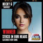 .@iambeckyg's #Shower just won the first ARDY of the night for #StuckInOurHeads presented by #BandAidBrand! #RDMA http://t.co/iTyQRF2QRU