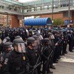 All officers wearing helmets now #FreddieGray #Baltimore http://t.co/4O5XJJumKE