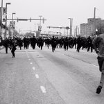 Stunning photo from #baltimore today by @byDVNLLN sums up so much more than these protests. Its why we keep fighting http://t.co/whjWKGgK9u