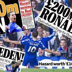 Back pages: If Real Madrid want Eden Hazard, Mourinho says it will cost £100m a leg' #cfc http://t.co/YBOHVEi9gD http://t.co/6Qo0hux2Yk