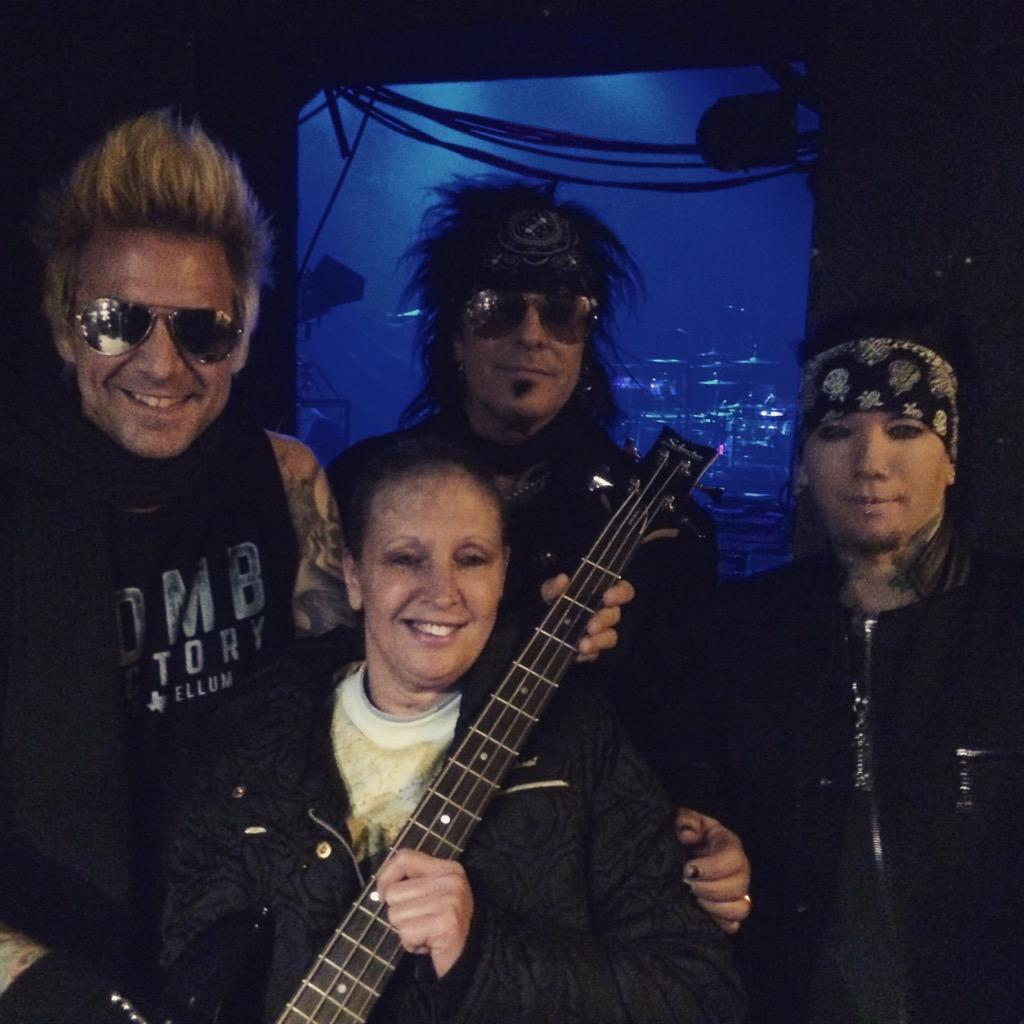 WAAF (@waaf): Congrats to Susan from Chelsea who won a signed bass from @NikkiSixx & @SixxAM + tix to the show at @palladiumshows! http://t.co/CF1NOfGSCB