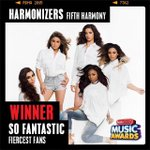 #Harmonizers guess whos So Fantastic? You are! Congrats on the fiercest fans award! @FifthHarmony #RDMA http://t.co/LynwPAdqPG