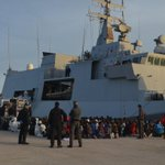 Witnessed 300+ African migrants and refugees set foot on terra firma after being rescued by Italian Navys Foscari http://t.co/OCmWHPwASb