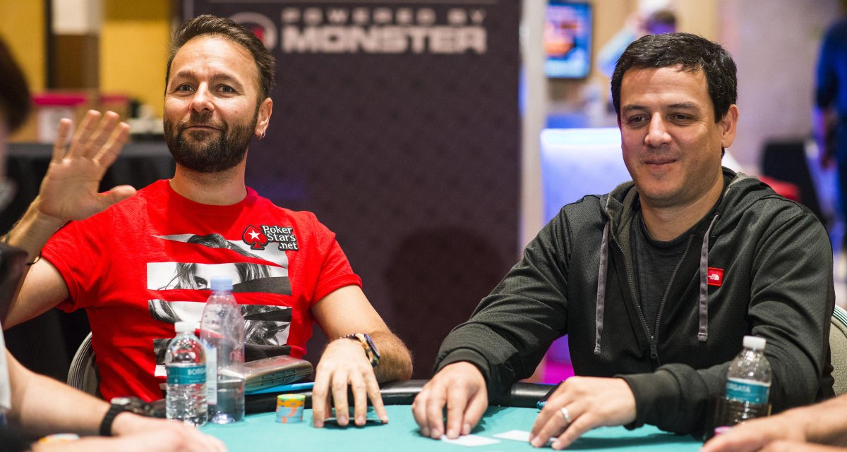 Top 2 WPT $$$ Winners of all time -- @CarlosMortensen (#1) & @RealKidPoker (#2), seated together Day 1 of #WPTChamps. http://t.co/gQvH2RfgnD