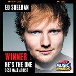And the #RDMA winner of #HesTheOne – Best Male Artist is @edsheeran! http://t.co/gBQZS0JlHN