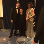 """""""Oh God, its Mom."""" @mamawoodhouse with President Obama & @FLOTUS Michelle Obama. #WHCD #WHCD2015 #NerdProm http://t.co/uD7KNzqdx0"""