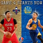 Pelicans & Warriors are set to tip off on ESPN. RT for Warriors FAV for Pelicans http://t.co/mubNlv3RNB
