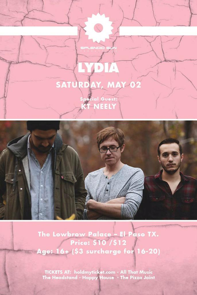 NEXT Saturday, May 2nd will be epic...  Com out & catch an early show w/ @LYDIAmusic and a late show w/ @bag_raiders! http://t.co/UpURB2nCbd