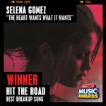 .@selenagomezs #TheHeartWantsWhatItWants just won #HitTheRoad – Best Breakup Song at the #RDMA! http://t.co/9rxTvmcjlH