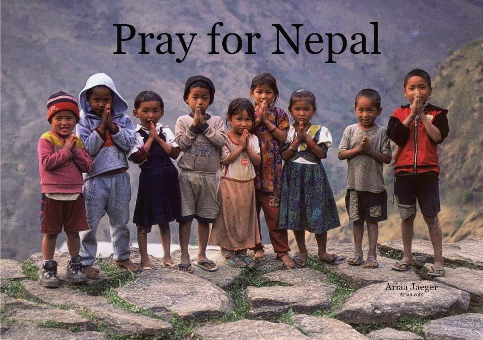 Todas las bendiciones y oraciones para Nepal tras este duro momento.