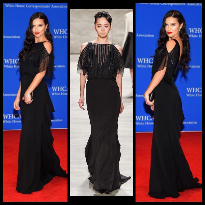 @AdrianaLima wearing @BibhuMohapatra @WhiteHouse #CorrespondentsDinner @AP @AP_Fashion @Bergdorfs #bibhu @cnnbrk http://t.co/aezVgbpEYA