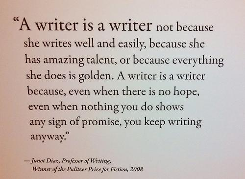 A writer is a writer because...  #Screenwriting #AmWriting http://t.co/C4LhikAqE0