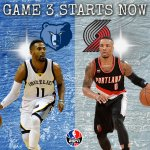 UP NEXT: Game 3 @trailblazers vs @memgrizz.  RT for Grizzlies FAV for Blazers http://t.co/Gz5828qtyh