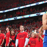 What a series for Steph Curry: - Game 1: 34 Pts - Game 2: 22 Pts - Game 3: 40 Pts - Game 4: 39 Pts http://t.co/04M9obdhms
