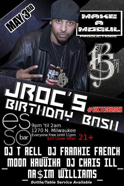 My Bday Party @essochicago SUNDAY MAY 3rd @Nasim_Williams @Djfrankiefrench @ChrisILL01 @MoonKavvika @DJT_RELL #Taurus http://t.co/FT3swHGIfh