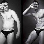 """[GALERÍA] Cuatro hombres con cuerpos """"normales"""" usan ropa interior de diseñador. http://t.co/9Xs8ZcbSy3 http://t.co/pikUBhOSB2"""