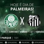 HOJE É DIA DE PALMEIRAS! Às 16h, o Verdão enfrenta o Santos no 1º jogo da final do Paulistão http://t.co/AifqGBl1ul http://t.co/5WCf9QIbMW