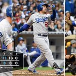RECAP: #Dodgers show off their power to outslug the Padres, 11-8. http://t.co/mRqgd6fbV5 #WeLoveLA http://t.co/Jzeo61pptq