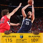 #Grizzlies defeat the #Blazers, 115-109 and take a 3-0 lead in the series. @MarcGasol ends w/ 25pts. http://t.co/pgBnjnR3zu