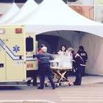 1st patient arrives to #MUHC2015 from #RoyalVic A baby from neonatal ICU. @Global_Montreal @cusm_muhc http://t.co/vq4ORboZBW