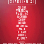 United XI: De Gea, Valencia, Smalling, McNair, Shaw, Blind, Herrera, Mata, Fellaini, Young, Rooney. #mufclive http://t.co/s2n1qcd3qX