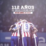 Hoy cumplimos 112 años.  ¡Gracias a los que cada día decís orgullosos que sois del Atlético de Madrid! #AúpaAtleti http://t.co/OJ1kDYwuHz