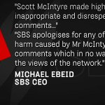 .@SBS sports reporter @mcintinhos has been sacked over a series of controversial tweets about #AnzacDay. #9News http://t.co/0gLdfzjEmp