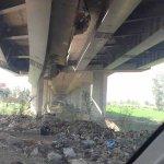 انهيار كوبري طريق بلقاس المنصورة السريع قبل كوبري الجامعة المصدر: http://t.co/3JNj0epAON http://t.co/Yj353UpjVV