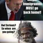 """In Australië is er n goed antwoord op """"vreemdelingen terug naar huis""""... #aboriginals http://t.co/UnvgaAIvR4"""