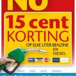 15 ct/l korting op diesel en benzine. Vandaag de hele dag #culemborg #goedkooptanken maar.......op koningsdag 16 ct/l http://t.co/3laFv07H1Z