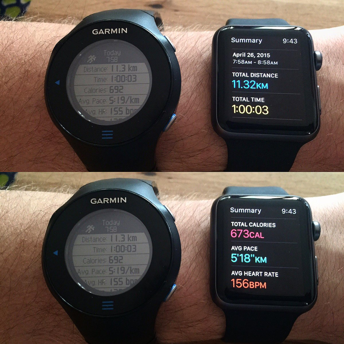 """""""@hverlind: This is how accurate the #AppleWatch is for running, even when using it without its paired iPhone for GPS http://t.co/a3Yq9mJBfW"""