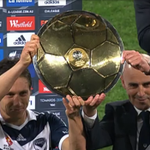 Melbourne boys are still No.1! @ALeague 2014/15 Premiers! #MVFC #10YearsProud #MVCvCCM http://t.co/gCgXRoW9MY