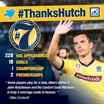 #ThanksHutch | That brings the incredible 228 @ALeague match career of John Hutchinson to an end #CCMFC #EndOfAnEra http://t.co/zHFfVc0Bc2