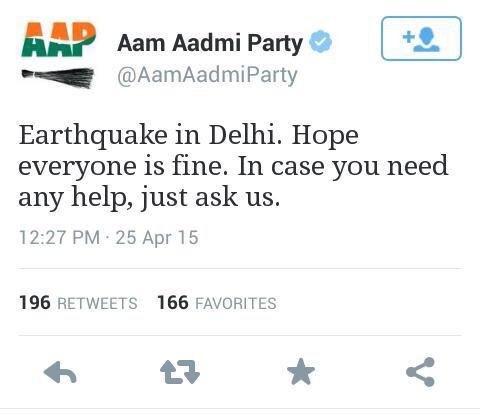 Praise to modi & #MannKiBaat, donate to PM relief fund. For everything else just ask #AAPtards (sorry 4 hate msg) http://t.co/kLpAYcJDWF