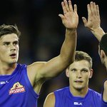 .@westernbulldogs have handed @Adelaide_FC a surprise 57-point thumping. http://t.co/ISMO7wcxW3 #AFLDogsCrows http://t.co/AQ0xmeOgkg