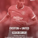 Make sure you tune in to #MUTV from 12:30 BST for the best build-up to Everton vs United: http://t.co/pl4v2KHD2N http://t.co/YGRarj5nHW