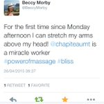 Lovely client feedback from yesterday! Not bad work after a half marathon!#massage #Leeds #sportsmassage http://t.co/14Z4hCTIUh