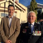 This bloke is a legend & I was proud to stand next to him on Anzac Day. Vet, community leader and TWU man Norm Wells http://t.co/YxthJkEPX0