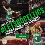 Gear up for Game 4 w/ a sale on @celtics t-shirts! Through the end of Game 4. #letsgoceltics http://t.co/OPVTeyx6DV http://t.co/ytbaNcfLg7