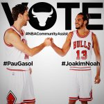 Today is the last day to vote! RT to VOTE #PauGasol and #JoakimNoah for the seasonlong #NBACommunityAssist award! http://t.co/9zUKesu6Sk