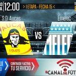 HOY desde las 12:00 se enfrentan @Aucas45 vs @CSEmelec en Chillogallo. DISFRÚTALO por https://t.co/VMhJskfyBG http://t.co/p02Dr1UxUB