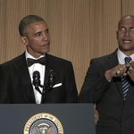 Watch Obamas anger translator crash the White House Correspondents Dinner: http://t.co/hVPrpzzX20 http://t.co/9SxbWX5UaX