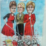 Apparently this poster was in a shop-window in #Glasgow , Brilliant! #LeftAlliance #SNP #Greens #Plaid15 #GE2015 http://t.co/mRCg0iwT1b