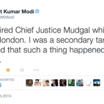 Another tweet from Feb 2014 where I mentioned the spying effort on #JusticeMudgal in #London http://t.co/KichOKxasV