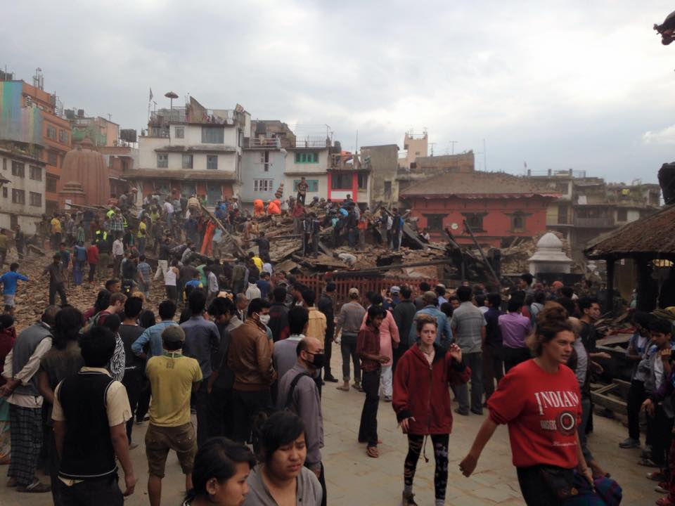 Photos of the devastation caused by the #NepalEarthquake flood in as a @ShelterBox response team heads to the country http://t.co/Eaa8ayfEAY